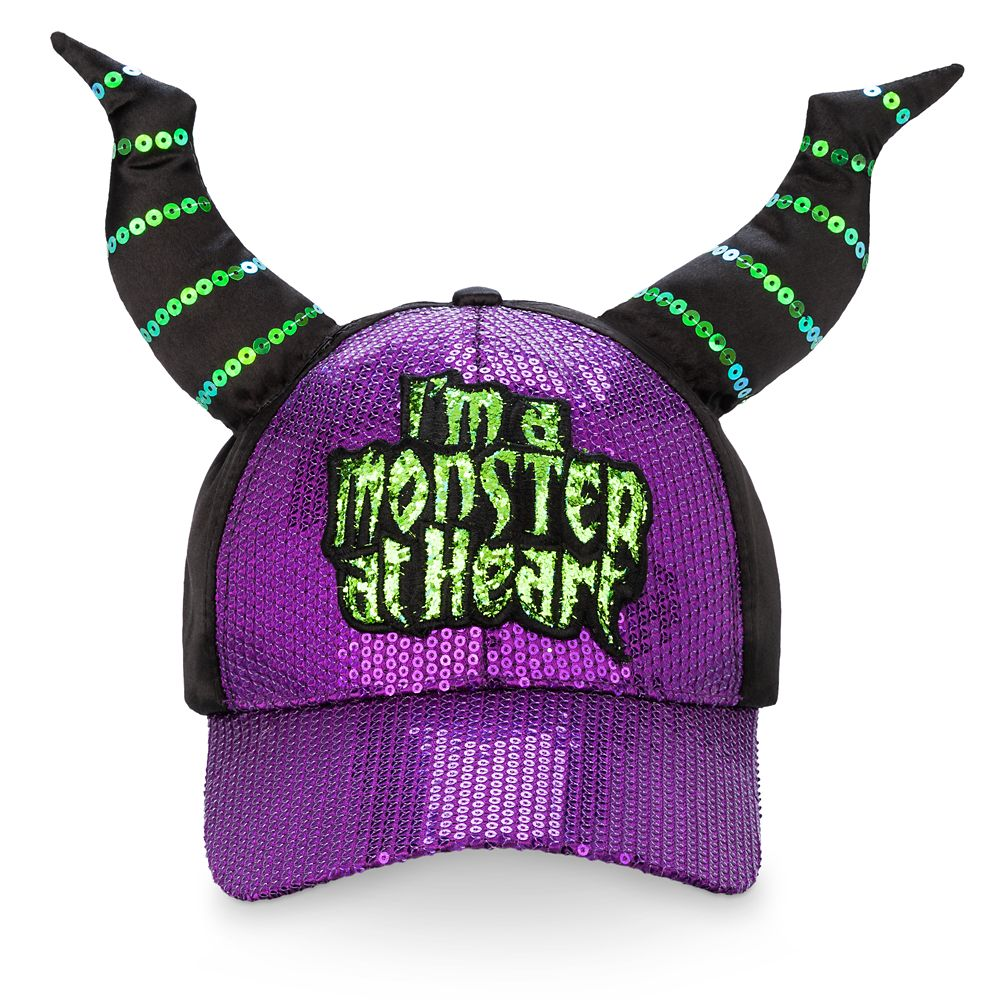 Maleficent Sequin Horned Cap for Adults