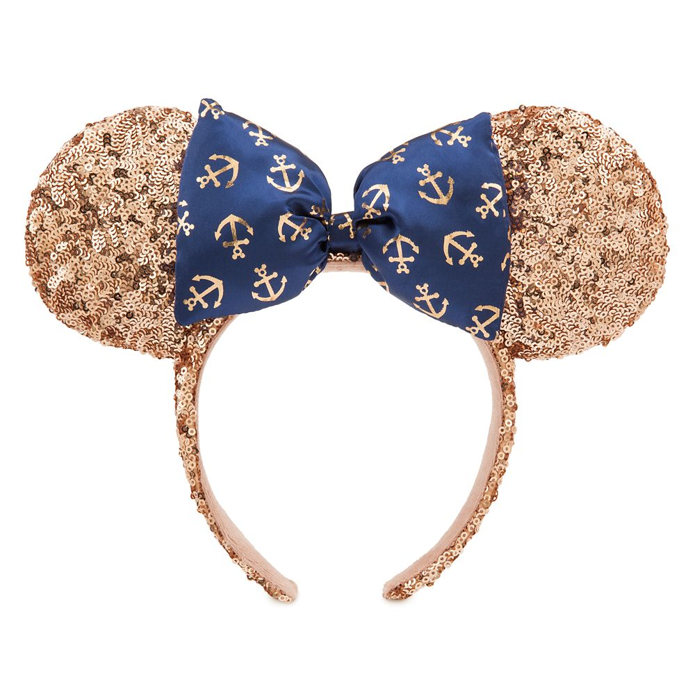 Minnie Mouse Rose Gold Disney Cruise Line Ear Headband