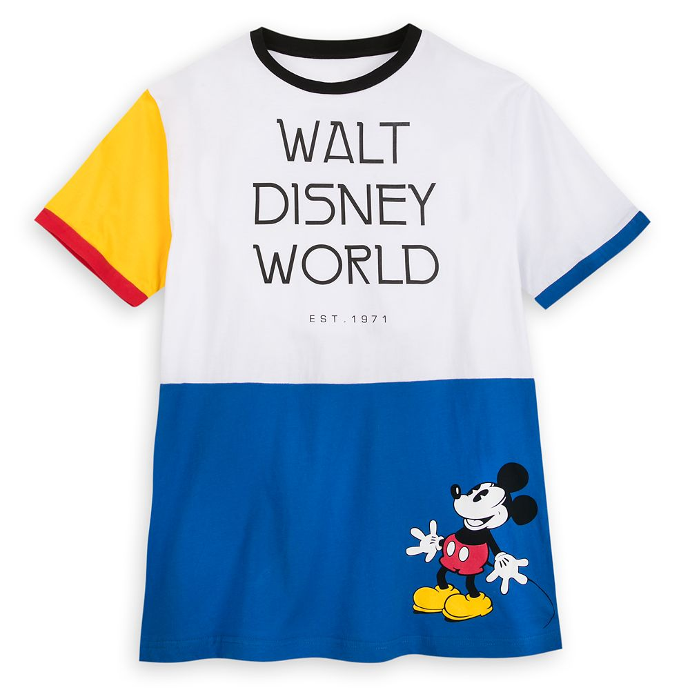 Mickey Mouse Color Block Ringer T-Shirt for Men  Walt Disney World