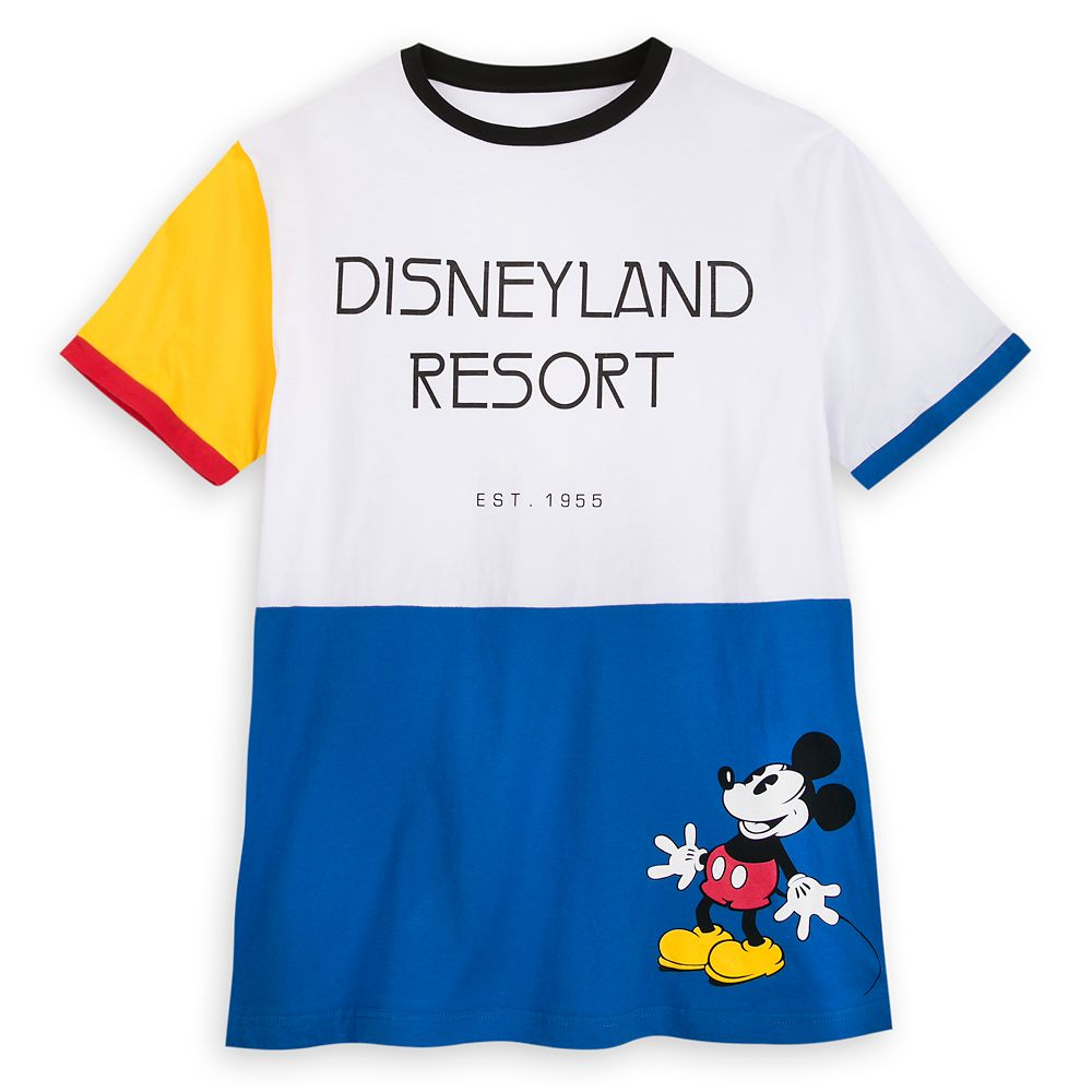 Mickey Mouse Color Block Ringer T-Shirt for Men  Disneyland