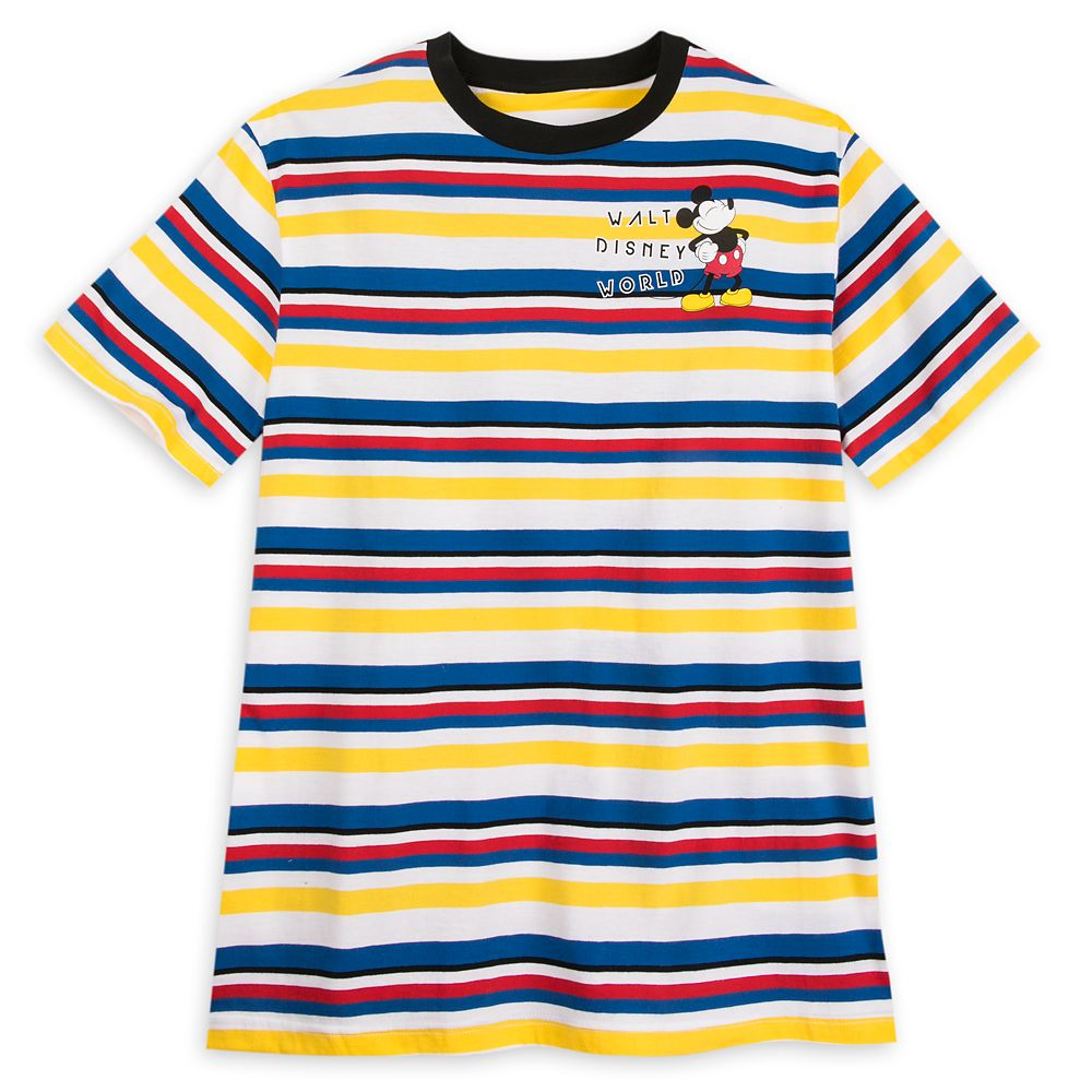 Mickey Mouse Striped T-Shirt for Men – Walt Disney World