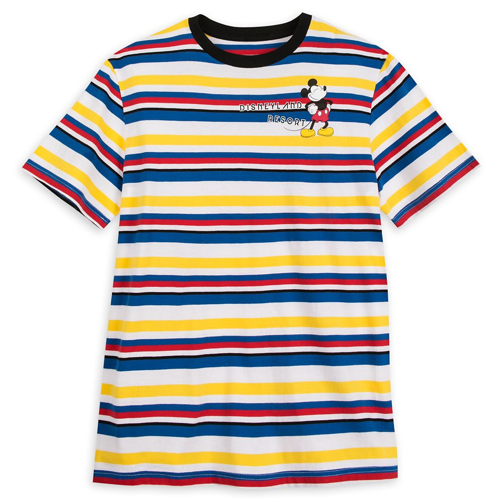 Mickey Mouse Striped T-Shirt for Men – Disneyland