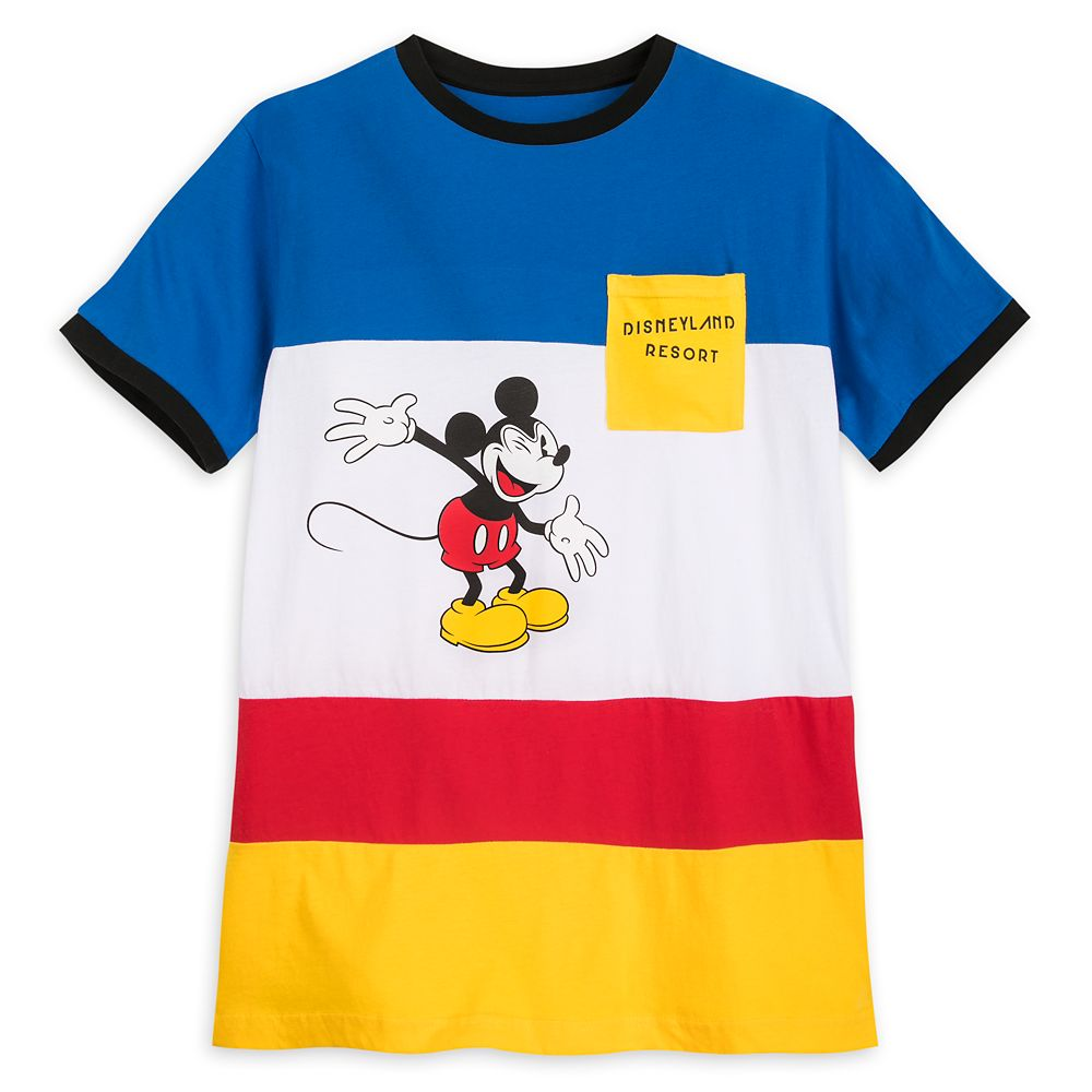 Mickey Mouse Color Block Pocket T-Shirt for Men – Disneyland
