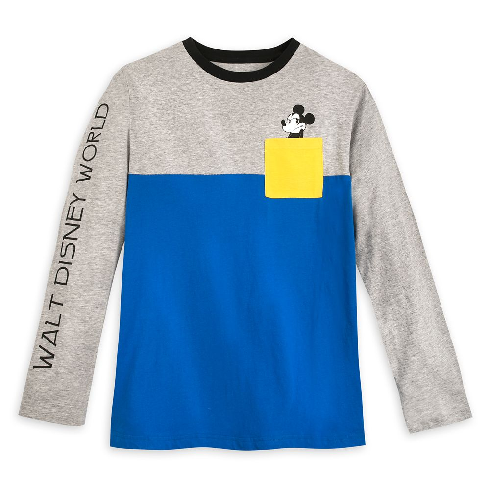 Mickey Mouse Color Block Long Sleeve T-Shirt for Men – Walt Disney World