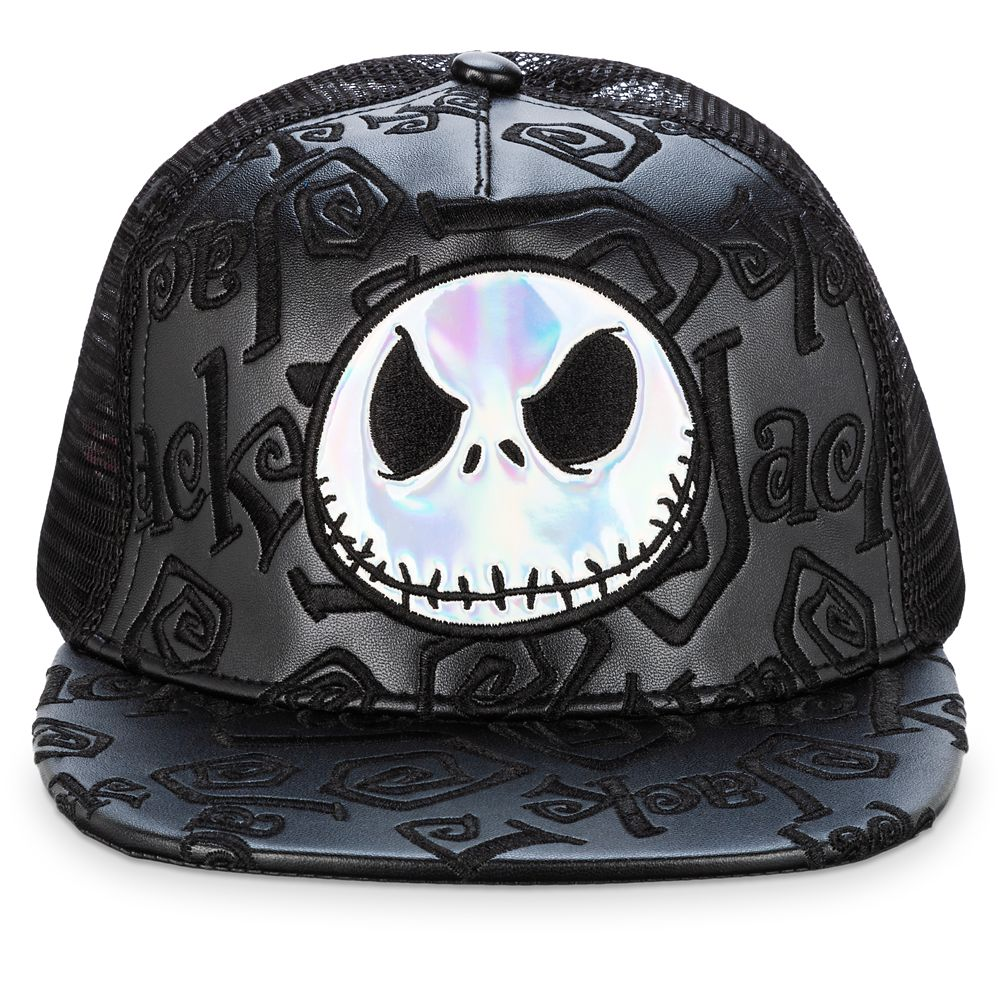 Jack Skellington Flat Bill Baseball Hat for Adults