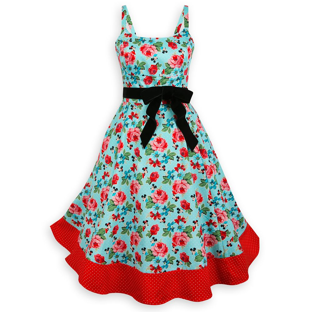 Mickey and Minnie Mouse Floral Dress for Women