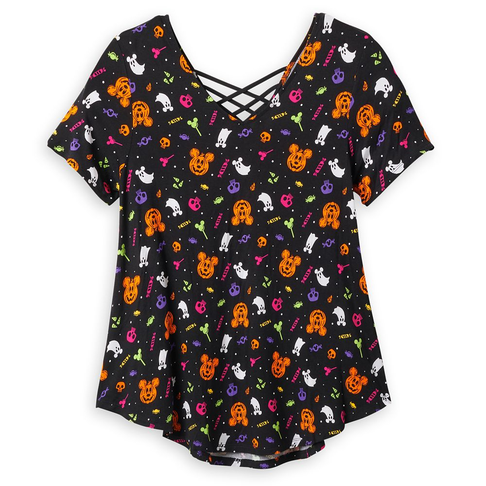 Mickey Mouse Halloween Fashion Top for Women