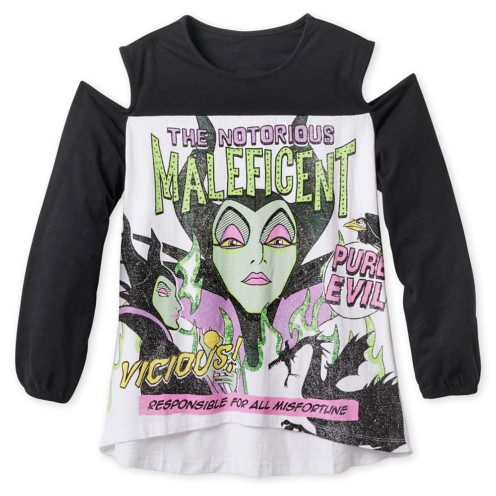 Maleficent Cold Shoulder T-Shirt for Women – Disney Villains