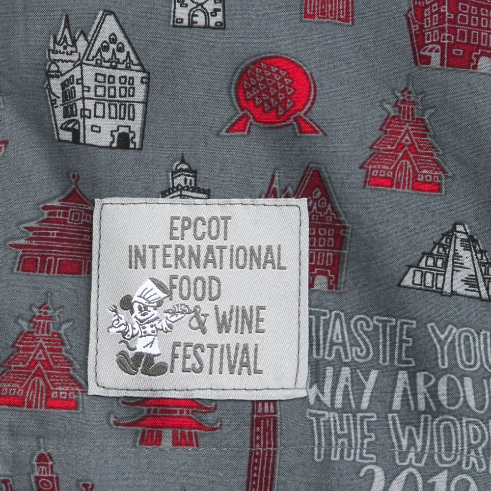 Epcot International Food & Wine Festival 2019 Woven Shirt for Adults