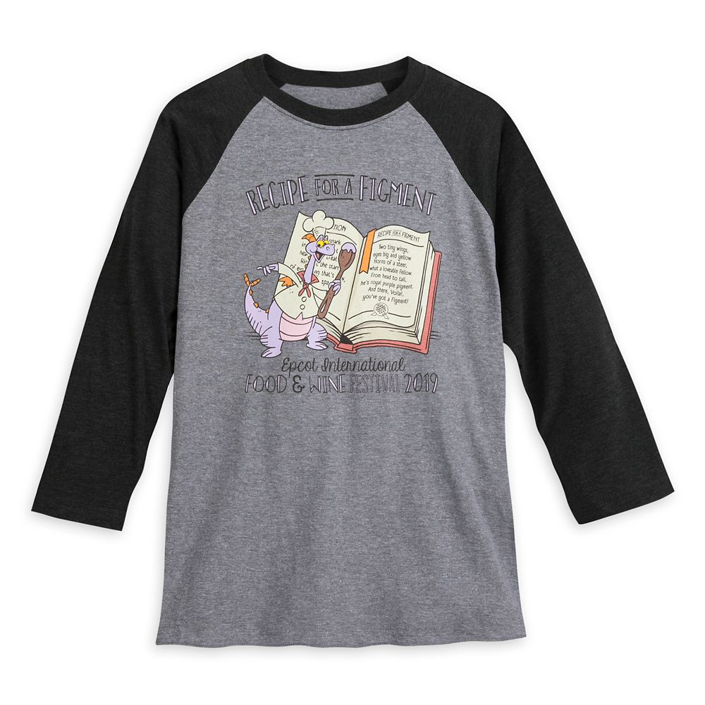 Figment Raglan T-Shirt for Adults – Epcot International Food & Wine Festival 2019