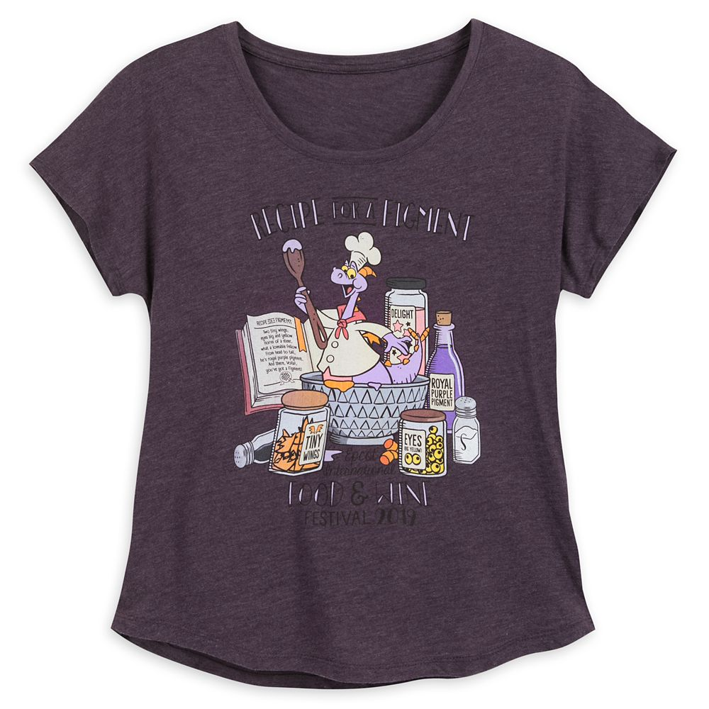 Figment T-Shirt for Women – Epcot International Food & Wine Festival 2019