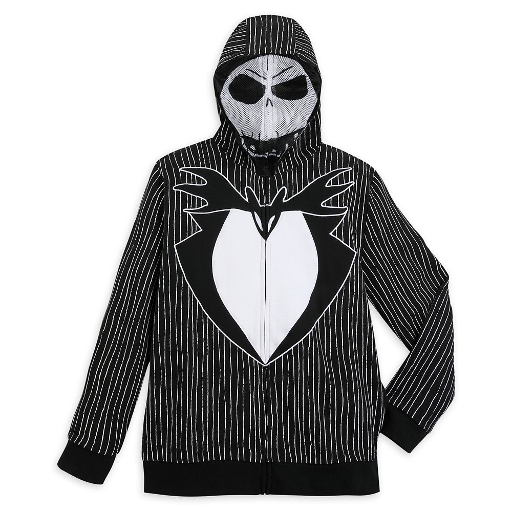 Jack Skellington Costume Zip Hoodie for Men