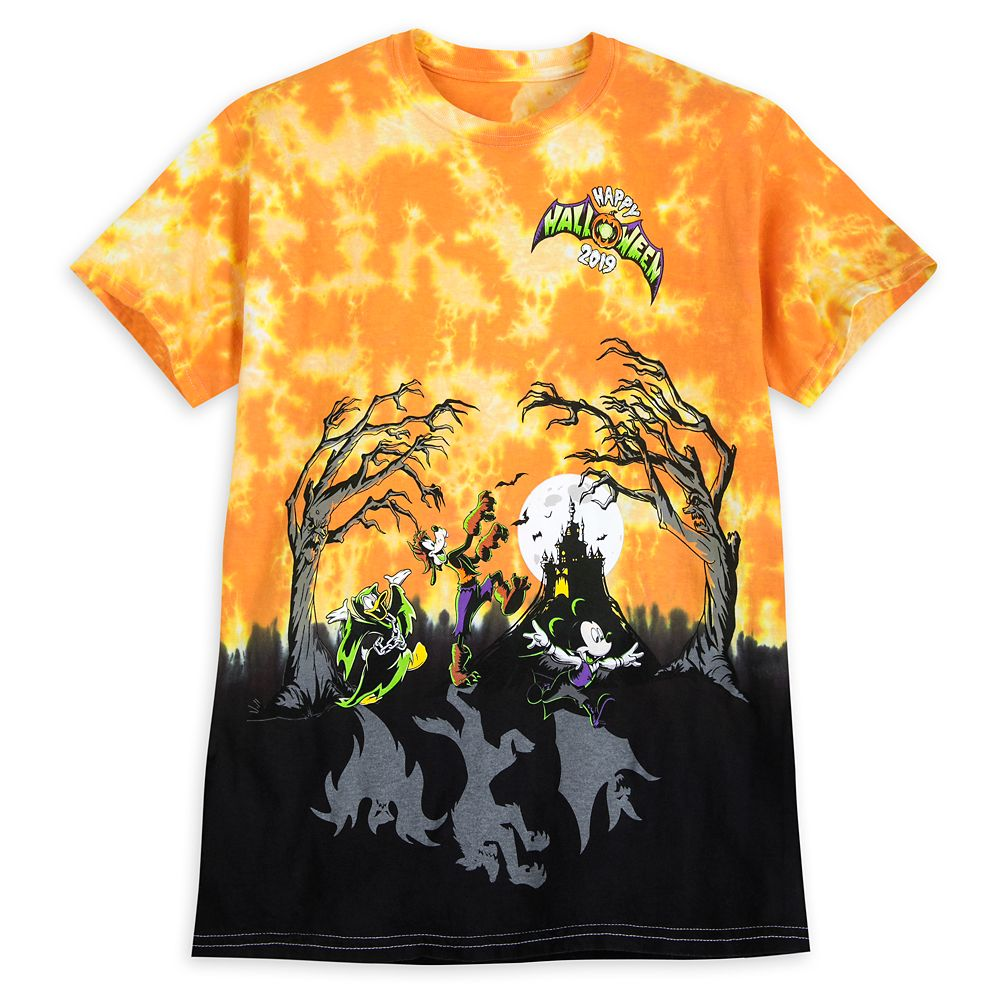 Mickey Mouse and Friends Tie-Dye T-Shirt for Adults  Halloween 2019  Disneyland