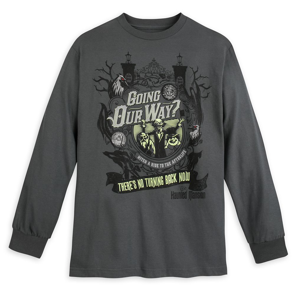 Hitchhiking Ghosts Long Sleeve T-Shirt for Men – The Haunted Mansion