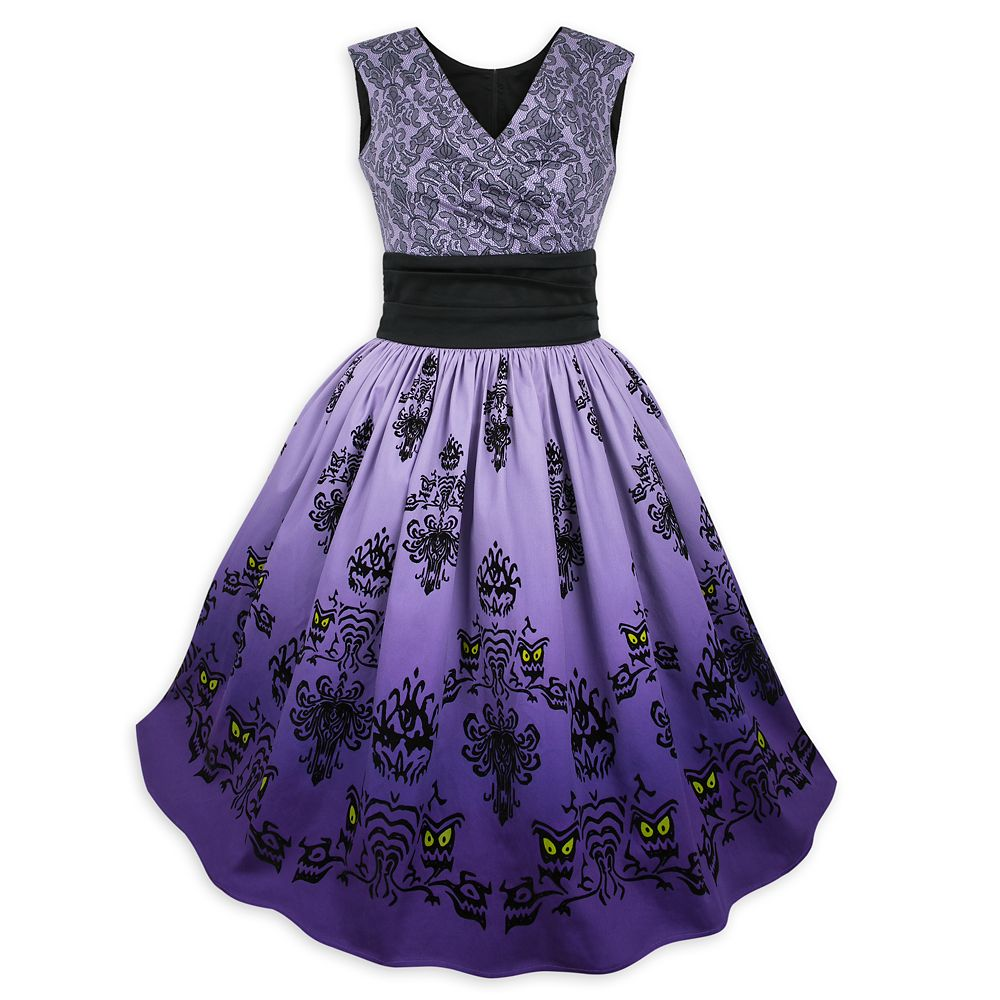 The Haunted Mansion Wallpaper Surplice Dress for Women