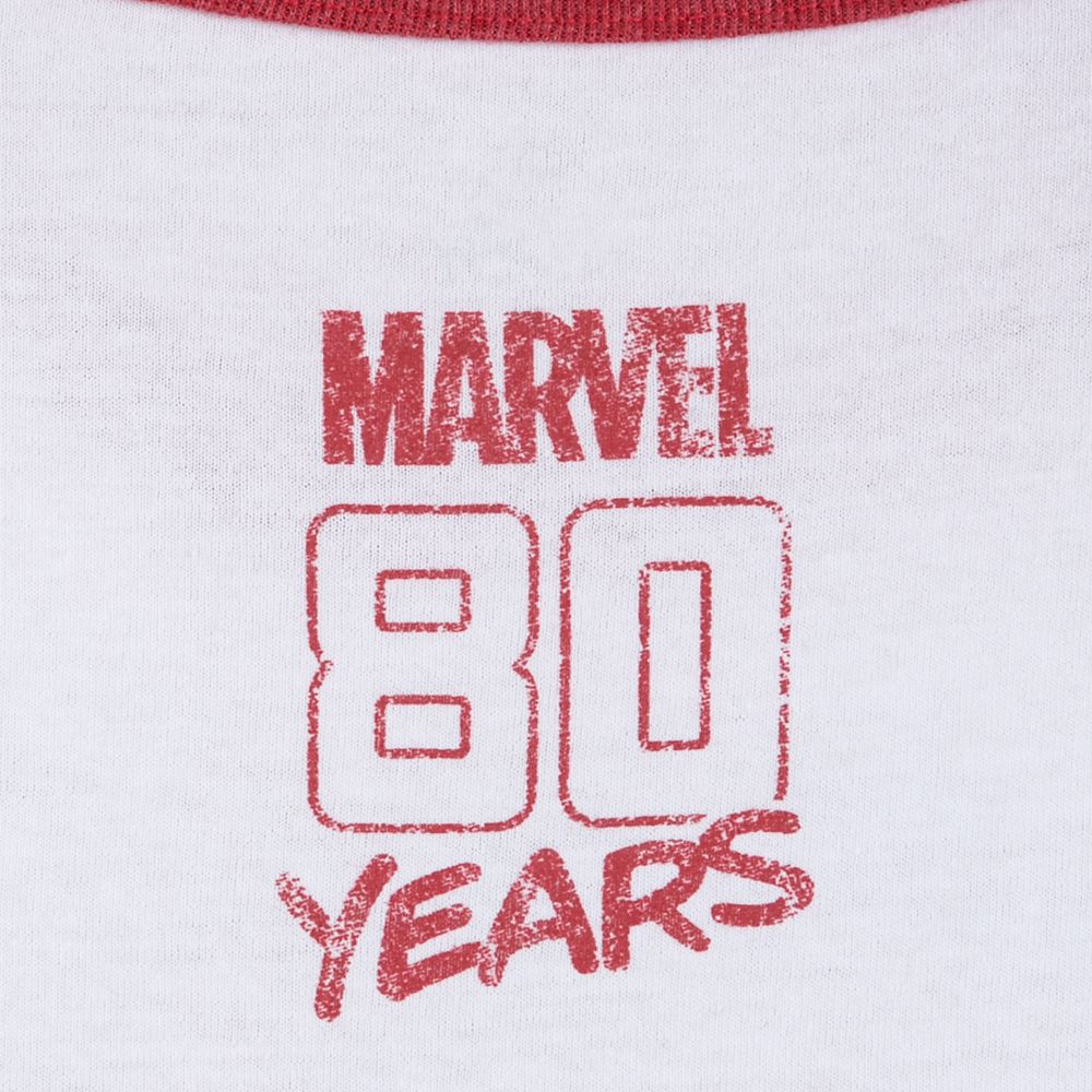 Marvel 80th Anniversary Ringer T-Shirt for Women