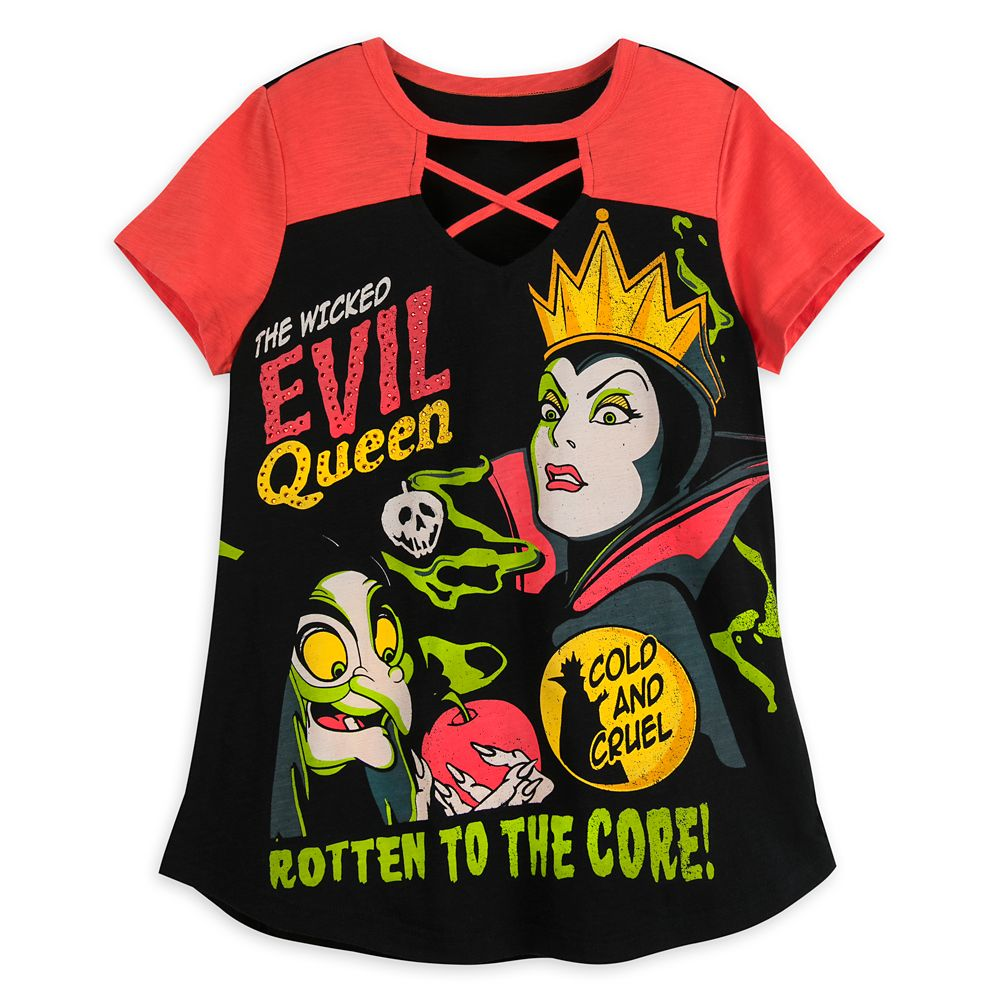 Evil Queen Laced T-Shirt for Women – Disney Villains