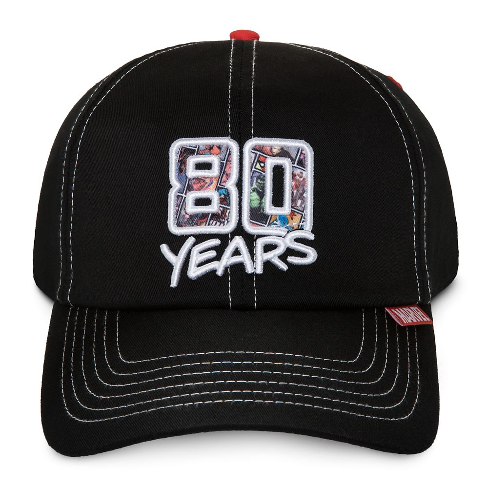 35 Amazing Marvel Gift Ideas featured by top US Disney blogger, Marcie and the Mouse: Marvel 80th Anniversary Baseball Cap for Adults Official shopDisney
