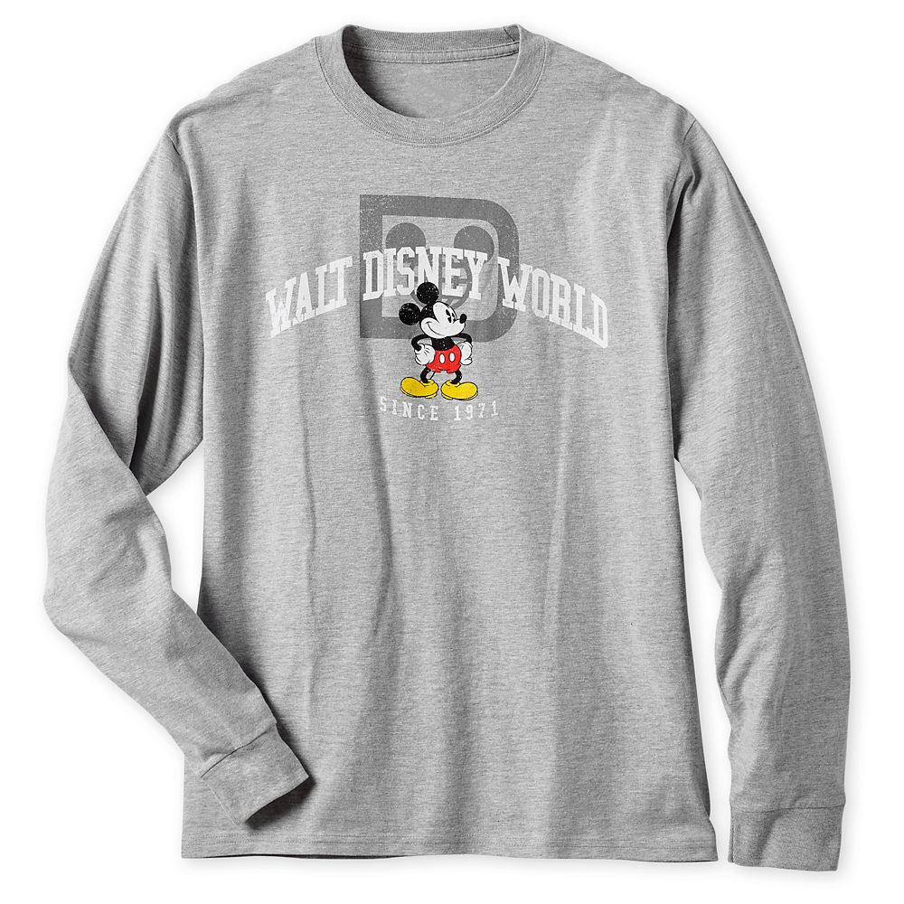 Mickey Mouse Long Sleeve Athletic T-Shirt for Men – Walt Disney World