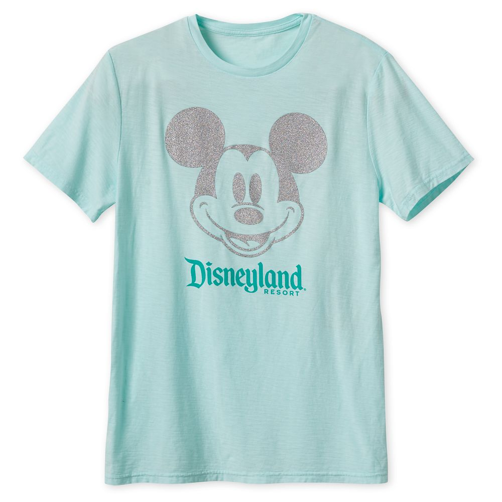 Mickey Mouse Glitter T-Shirt for Adults – Disneyland – Arendelle Aqua