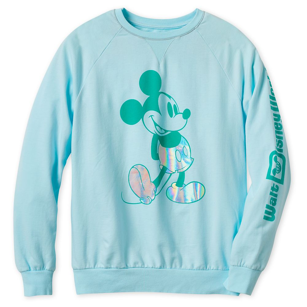 Mickey Mouse Metallic Sweatshirt for Adults – Walt Disney World – Arendelle Aqua