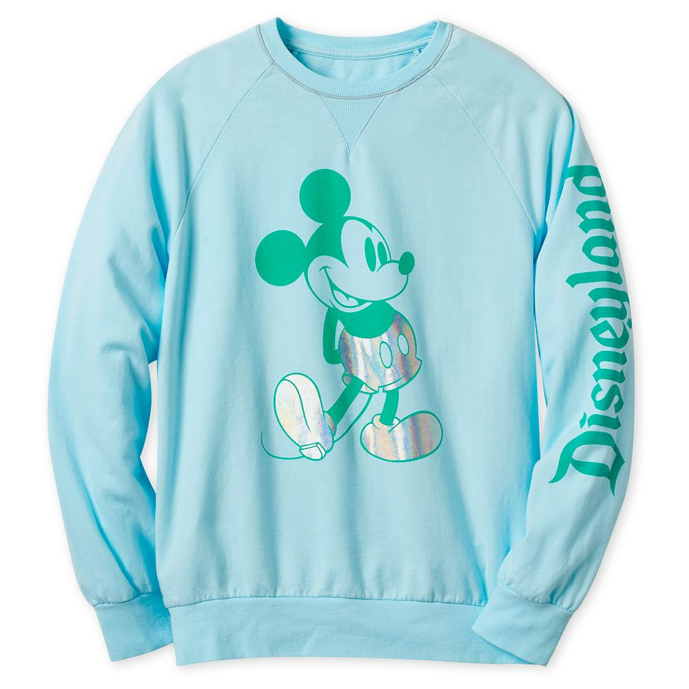 Mickey Mouse Metallic Sweatshirt for Adults – Disneyland – Arendelle Aqua