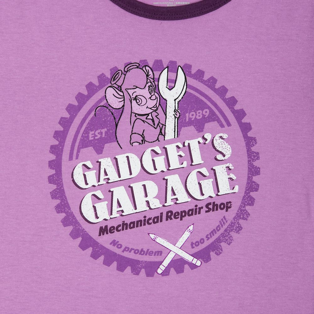 Gadget's Garage Ringer T-Shirt for Women - Chip 'n Dale Rescue Rangers