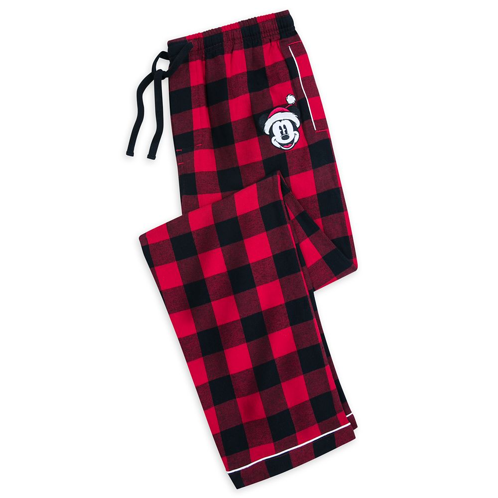 Mickey Mouse Plaid Pajama Pants for Men
