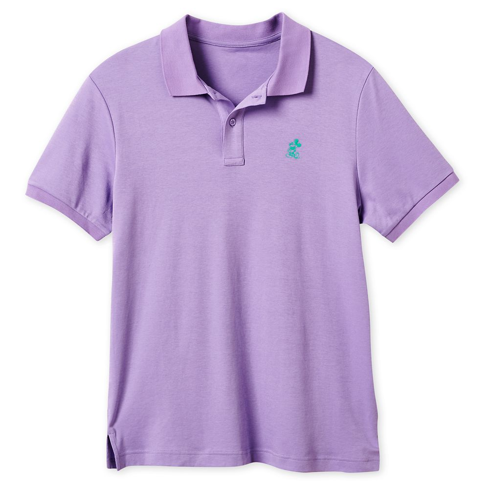Mickey Mouse Pima Cotton Polo Shirt for Men – Purple
