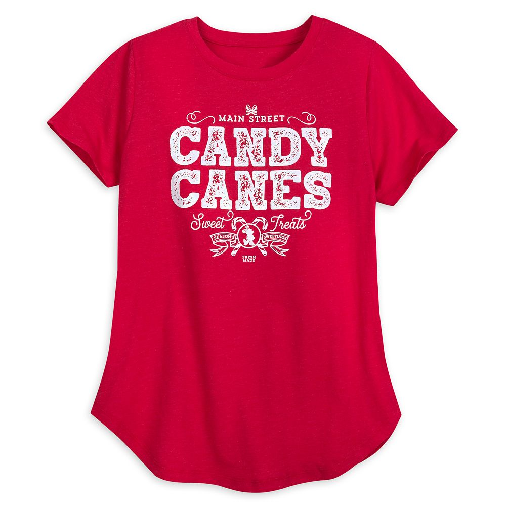Main Street Candy Canes T-Shirt for Women