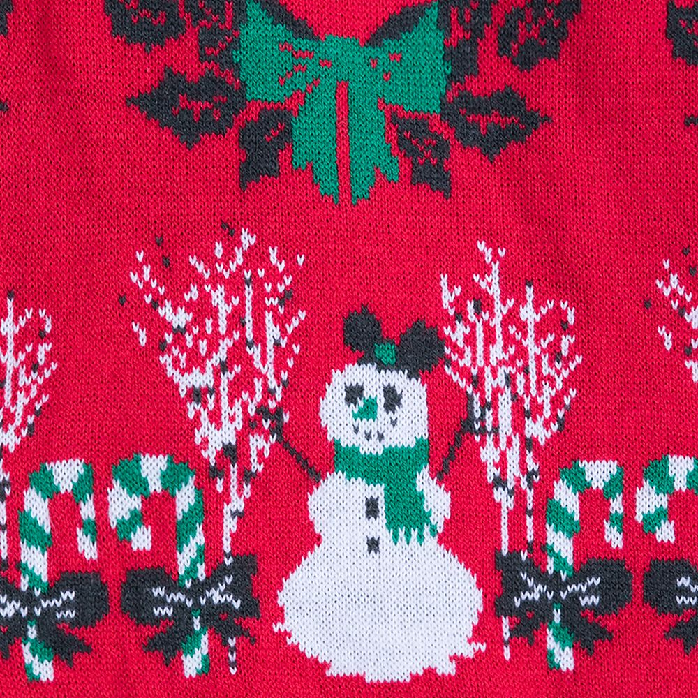 Mickey and Minnie Mouse Light-Up Holiday Sweater for Women