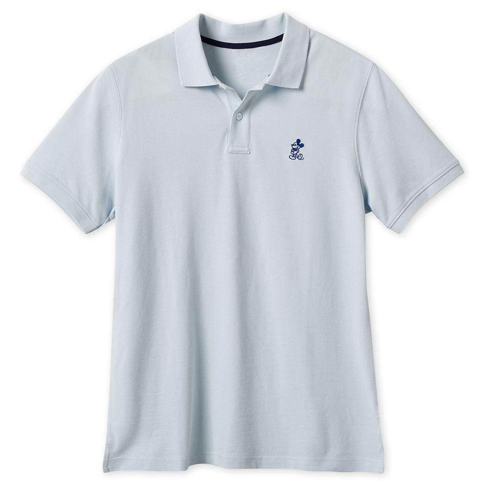Mickey Mouse Pique Cotton Polo Shirt for Men – Baby Blue