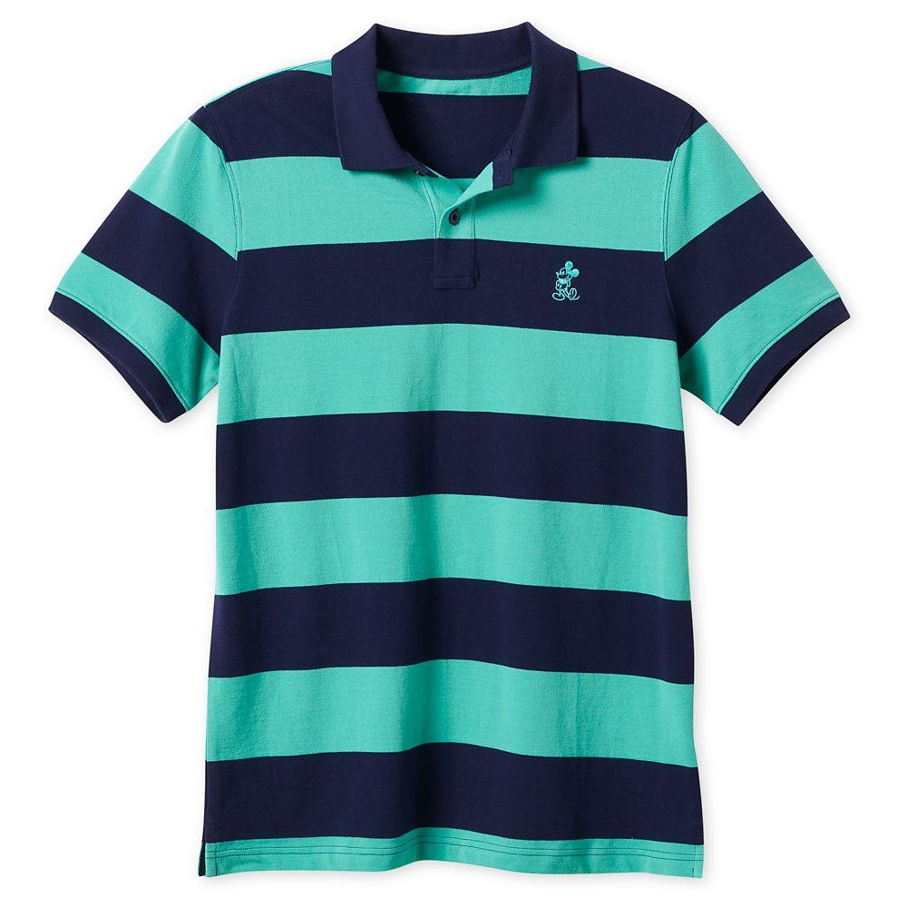 Mickey Mouse Pique Cotton Polo Shirt for Men – Striped
