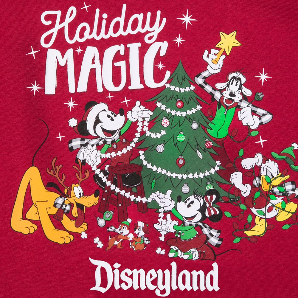 Mickey Mouse and Friends Holiday T-Shirt for Adults – Disneyland