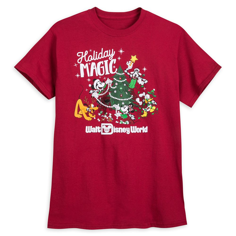 Mickey Mouse and Friends Holiday T-Shirt for Adults – Walt Disney World