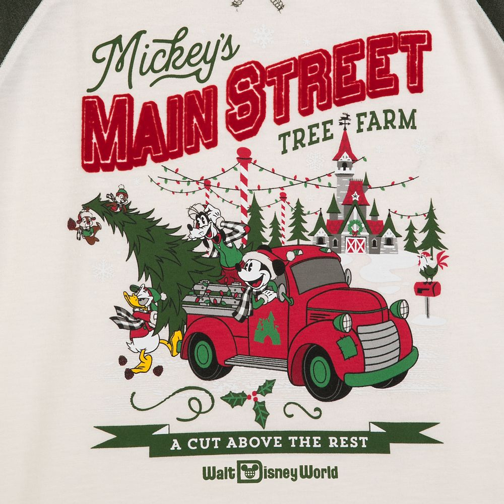 Mickey Mouse and Friends Holiday Raglan Shirt for Adults – Walt Disney World