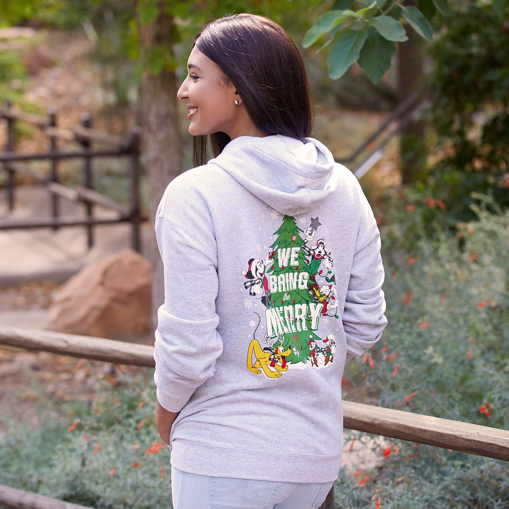 Mickey Mouse and Friends Holiday Hoodie for Adults – Disneyland