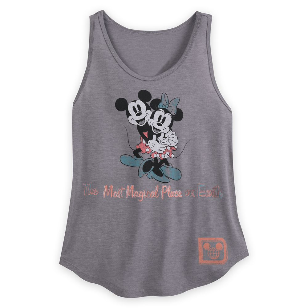 Mickey and Minnie Mouse Scoop Neck Tank Top for Women – Walt Disney World