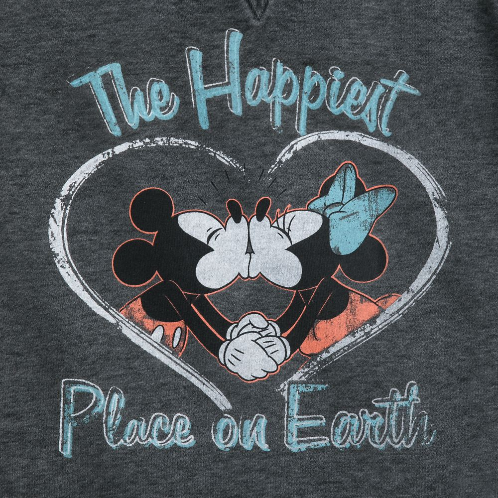 Mickey and Minnie Mouse Kiss Pullover Hoodie for Women – Disneyland
