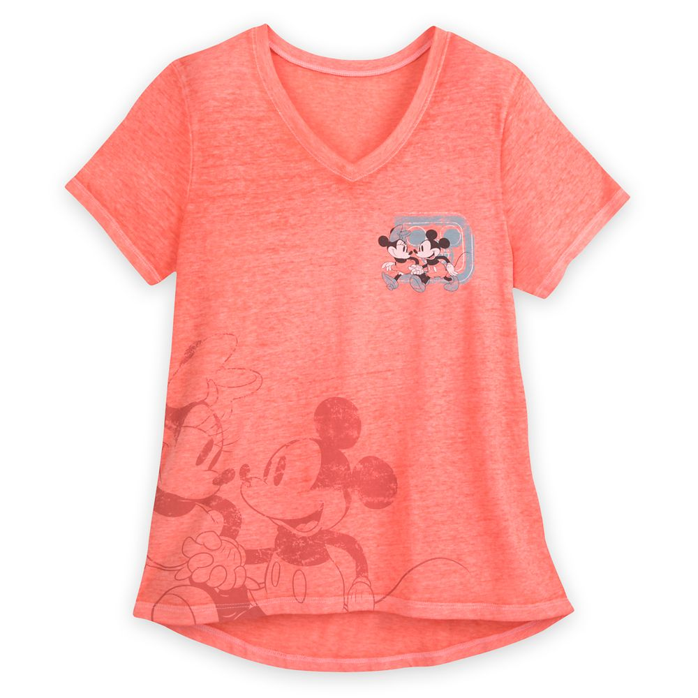 Mickey and Minnie Mouse V-Neck T-Shirt for Women – Walt Disney World