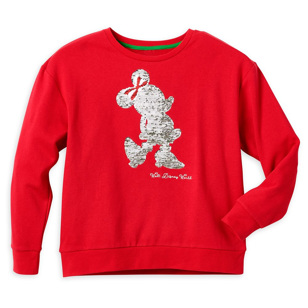 Minnie Mouse Reversible Sequin Holiday Pullover for Women – Walt Disney World