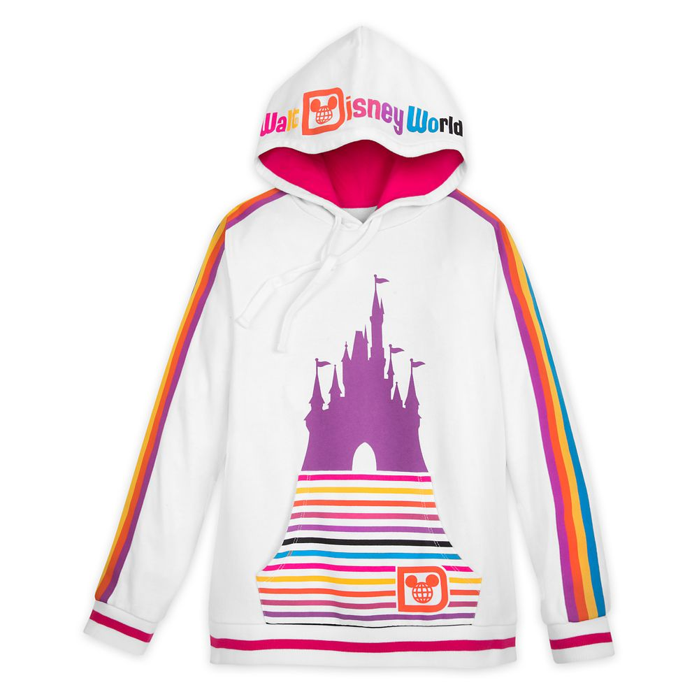 Walt Disney World Retro Stripe Pullover Hoodie for Women
