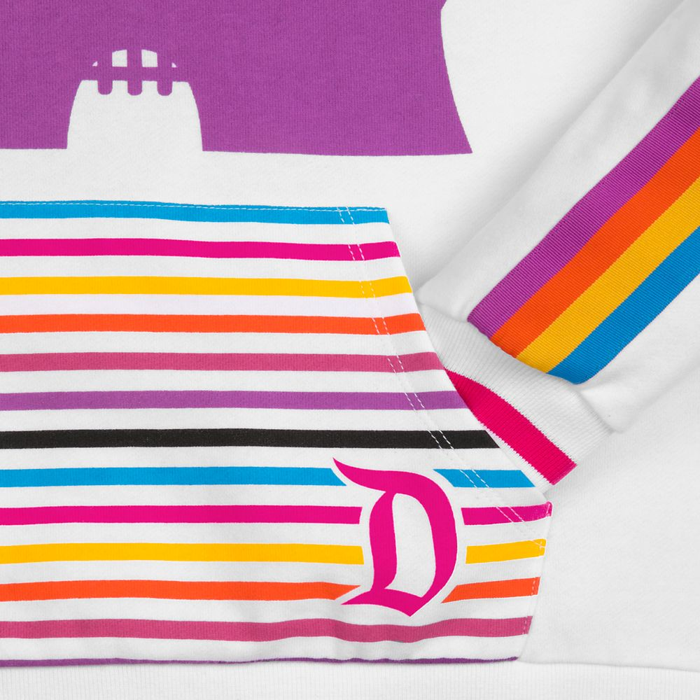 Disneyland Retro Stripe Pullover Hoodie for Women