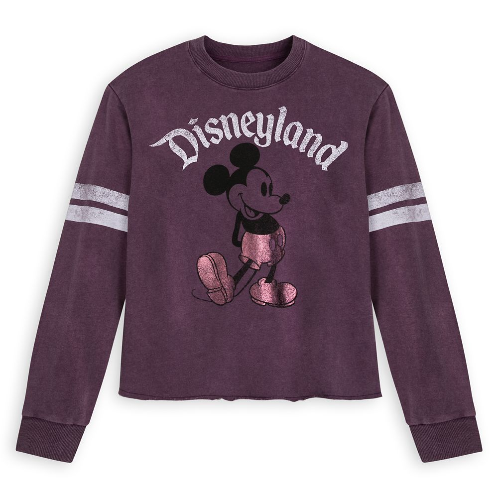 Mickey Mouse Football Jersey for Women – Disneyland – Purple