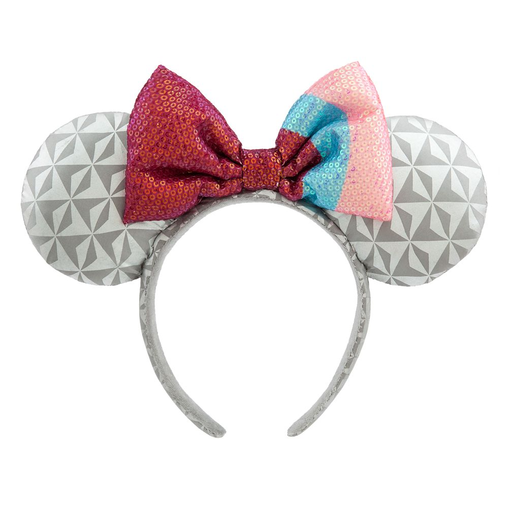 Epcot Bubblegum Wall Minnie Mouse Ear Headband for Adults