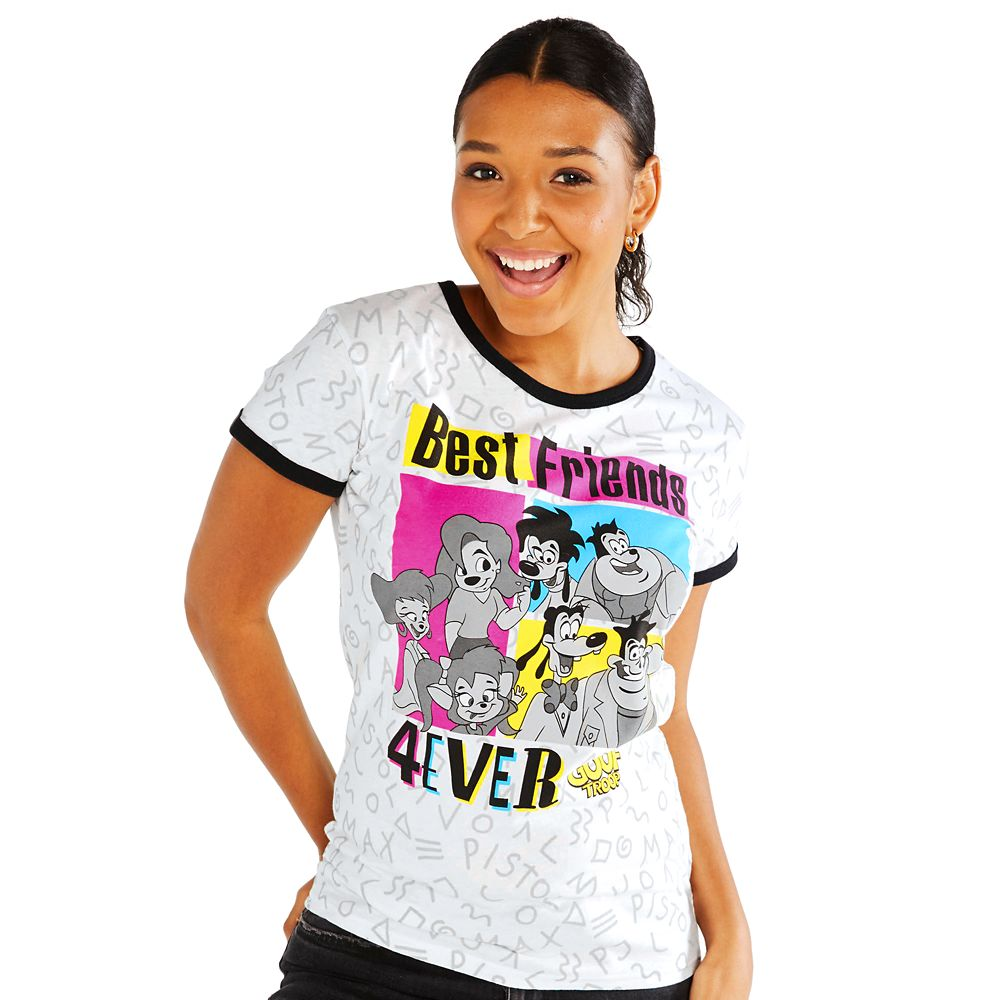 Goof Troop Ringer T-Shirt for Women
