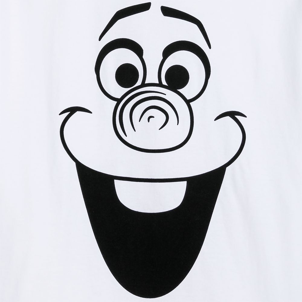 Olaf Flocked T-Shirt for Adults