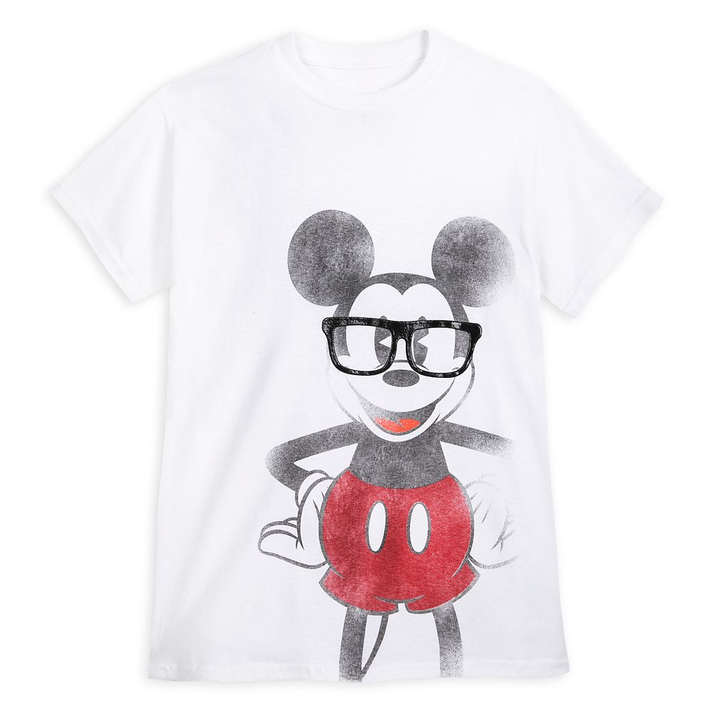 Mickey Mouse Nerd T-Shirt for Adults