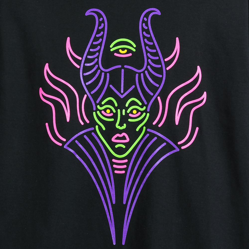 Maleficent Neon T-Shirt for Adults – Sleeping Beauty