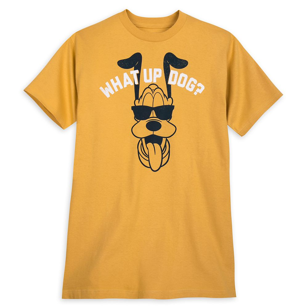 Pluto ''What Up Dog?'' T-Shirt for Adults